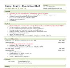 Executive Chef Resume Template Fascinating Free Sample Executive Chef Resume Template