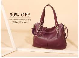 Zency Luxury Purple Women Shoulder <b>Bag 100</b>% <b>Genuine Leather</b> ...