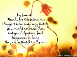 thank you for being my friend saying