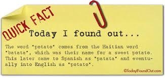Word Origin Where The Word Potato Comes From