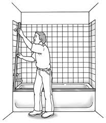 how to install a shower or tub door