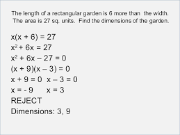 solving word problems involving quadratic equations