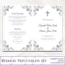 Catholic Wedding Ceremony Program Templates Catholic Wedding Program Template Navy Blue Church Ceremony Booklet