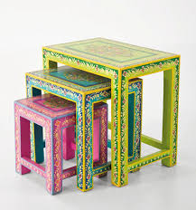 brightly painted nesting tables bright painted furniture