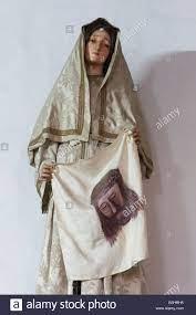 Statua di Santa Veronica holding sindone di Gesù Cristo Foto stock - Alamy