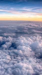 Sunset, sky, sea of clouds, 1080x1920 ...
