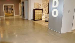 ... concrete floors promote optimal indoor air quality, are energy  efficient, have little construction waste, and will never need to be  replaced.