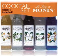 monin flavoured coffee syrup tail gift set