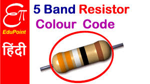 5 Band Resistor Color Code Chart Pdf 5 Band Resistor Colour Code Video In Hindi Edupoint