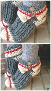 crochet sock monkey slippers pattern crochet women slippers free patterns
