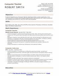 Teacher Resume Objective Sample Computer Teacher Resume Samples Qwikresume
