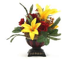 Silk Arrangements For Home Decor Custom Silk Flower Arrangement Bathroom Vanity Decor Coffee