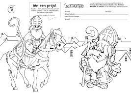 Sinterklaas Kleurplaat Doe Mee En Win Pagina 20980 Hac Weekblad