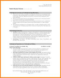 7 Career Summary Resume Mla Cover Page