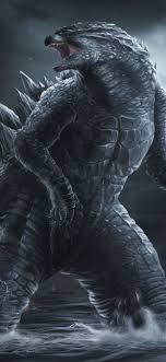 Godzilla, art picture 1242x2688 iPhone ...
