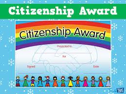 Citizenship Award Teacher Resources And Classroom Games