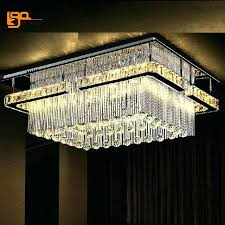 ceiling mounted crystal chandelier new rectangular led chandelier ceiling mounted crystal light foyer chandeliers promotion s