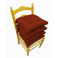 microfiber 14 inch reversible chair pads set of 4 today overstock 4429793
