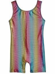 Danskin 3736 Girls Rainbow Bright Gymnastics Biketard