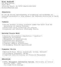 First Time Resume First Time Resume With No Experience Samples