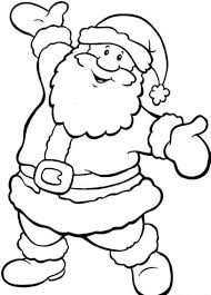 Father Christmas Colouring Pages To Print Wood Burning Christmas