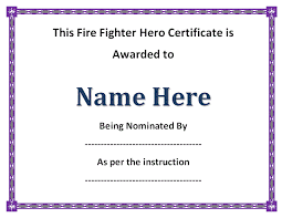 11 Firefighter Certificate Templates Free Printable Word