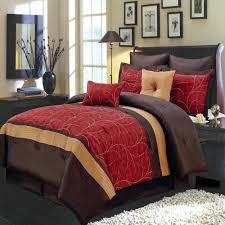 modern red bedding modern red brown embroidered comforter set
