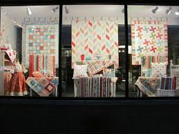 9 best Fabric store images on Pinterest | Fabric shop, Display ... & quilt shop display | L7 QUILT CO.: My first window appearance. Adamdwight.com