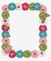 digital frames clip art frame clip art digital images colorful flower border for google docs
