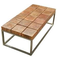 contemporary industrial furniture. unique solid wood industrial iron base block coffee table contemporary furniture