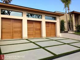 modern garage doors. Contemporary-garage-doors-sapele-3-car-garage Modern Garage Doors