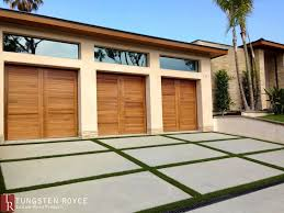 contemporary garage doors sapele 3 car garage