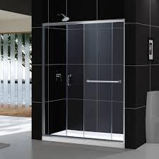 dreamline infinity z 56 inch 60 inch frameless sliding shower door 1 4 glass chrome
