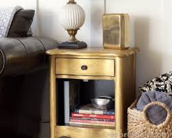 gold painted furnitureDIY Gold Metallic Table  Furniture Makeover  Decorchick