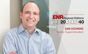Dan Sizemore Selected as a Top Young Professional by ENR   Mortenson
