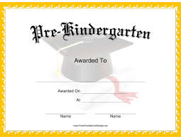 This Mortarboard Pre K Certificate Features A Mortarboard