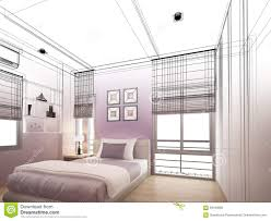 interior design bedroom sketches. Download Abstract Sketch Design Of Interior Bedroom Stock Illustration -  Of Blueprint, Family: Interior Design Bedroom Sketches I