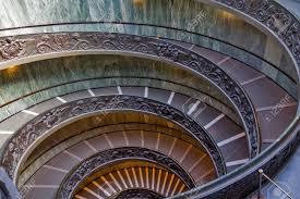 Escaliers En Spirale Des Musées Du Vatican Cité Du Vatican Rome Italie