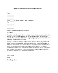 Congratulation Letter For New Job 2019 Congratulations Letter Templates Fillable Printable Pdf