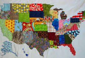 USA PATCHWORK MAP Quilt Pattern from Quilts by Elena Full & USA PATCHWORK MAP Quilt Pattern from Quilts by Elena Full Sized Templates  and Clear Instructions Adamdwight.com
