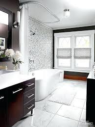 black tile bathroom white wall color