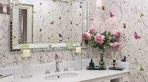 40+ Bathroom wallpaper ideas - floral ...
