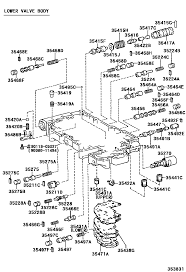 Toyota avalon mcx20l aepnka 3512 valve body oil strainer atm transmission valve body symptoms a541e valve body diagram