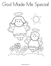 Small Picture God Made Me Special Coloring Pages chuckbuttcom