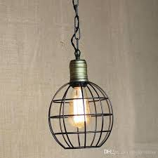 wire cage pendant lamp industrial black light for dining room lighting pendants copper diamond ca