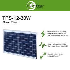 Solar Panel Circuit Design Amazon Com Tycon Power Tps 12 30 30w 12v Solar Panel