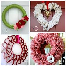 valentine wreaths for your front door12 DIY Valentines Wreaths  Blissfully Domestic