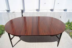 scandinavian modern danish modern round rosewood dining table with extension for