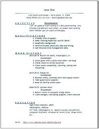 Job Description Resume Samples Hotel Housekeeping Resume Sample ...