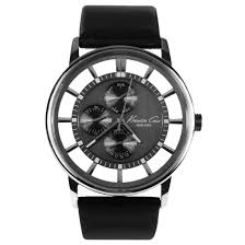 kenneth cole mens transparent dial watch kc1853